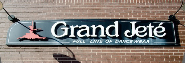 Grand Jeté sign on outside of building